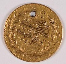 TURKEY KM #677 25 KURUSH GOLD SCARCE 1839-61 XF
