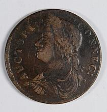 1787 CONNECTICUT CENT BUST LEFT XF