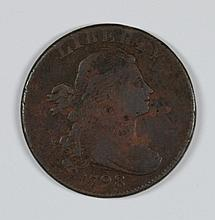 1798 LARGE CENT VF/XF STRONG DETAILS SOME POROSITY