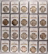 LOT OF 20 1921 MORGAN DOLLARS NGC MS-63