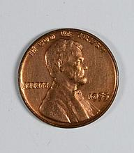 1955/55 DOUBLE DIE CENT MS-62 RED