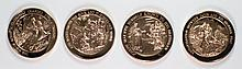( 4 ) FRANKLIN MINT COLLECTABLE MEDALS OF THE BIBLE