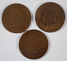 ( 3 ) 1872 INDIAN HEAD CENTS