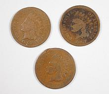 ( 3 ) 1867 INDIAN HEAD CENTS