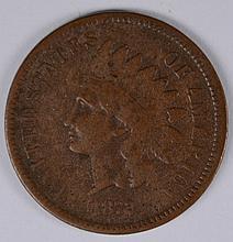 1872 INDIAN HEAD CENT, VG  KEY COIN