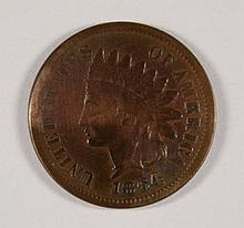 1864-L INDIAN HEAD CENT, FINE  OLD CLEANING