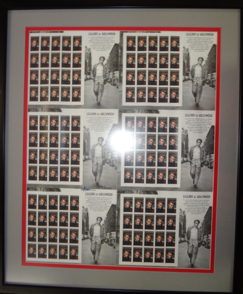 Framed James Dean Stamps by the U.S. Postal Service , Limited Edition, COA
