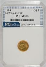 1905 LEWIS & CLARK GOLD $1 COMMEM. PCI CH BU
