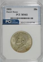1935 BOONE COMMEMORATIVE HALF DOLLAR, PCI GEM BU