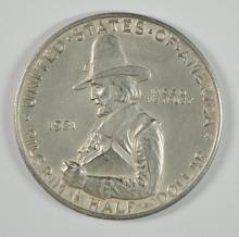1921 PILGRIM COMMEMORATIVE HALF DOLLAR, CHOICE BU  TOUGHER DATE