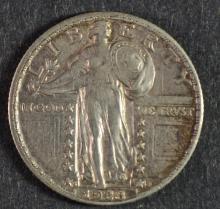 1928-S STANDING LIBERTY QUARTER AU/BU
