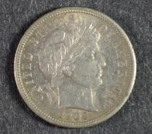 1902-S BARBER DIME, AU