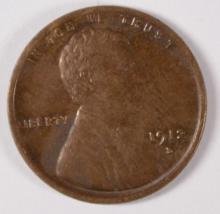 1912-D LINCOLN CENT AU/BU