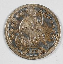 1853 ARROWS SEATED LIBERTY HALF DIME XF