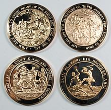 ( 4 ) FRANKLIN MINT COLLECTABLE &  MEDALS OF THE BIBLE: