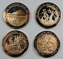 ( 4 ) FRANKLIN MINT COLLECTABLE MEDALS OF THE BIBLE: