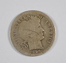 1896-O BARBER DIME G KEY COIN