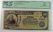 1902 $10 NATIONAL (POLSON, MT) #9449