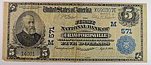 1902 $5 NATIONAL (CRAWFORDSVILLE, IN) #571