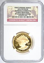 2014-W $10 GOLD FIRST SPOUSE (FLORENCE HARDING) NGC PF-69 UC (EARLY RELEASE)
