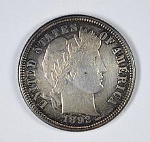 1892 BARBER DIME, BU SEMI-PL GORGEOUS