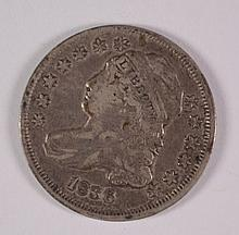 1836 Bust Dime XF+ ORIGINAL PATINA