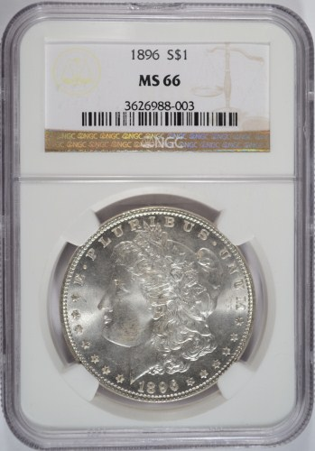1896 MORGAN DOLLAR NGC MS66!