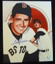 TED WILLIAMS 8x10 AUTOGRAPHED PHOTO - COA by GAI
