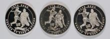 3 - .999 SILVER ROUNDS - PETE ROSE 4192 HITS, TOTAL ( 3 ozt) PURE SILVER