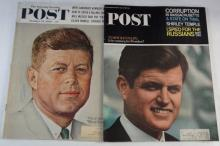 22 - VINTAGE MAGAZINES - SPORTS / 1957 SCOUTING / 1960 &1965 POST KENNEDY