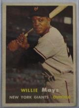 1957 TOPPS #10 WILLIE MAYS VGEX+