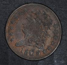1809/6 HALF CENT AU  EARLY OVER DATE