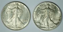 ( 2 ) 1941 WALKING LIBERTY HALF DOLLARS, CHOICE BU