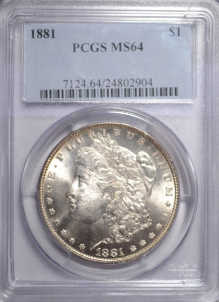1881 MORGAN DOLLAR PCGS MS-64