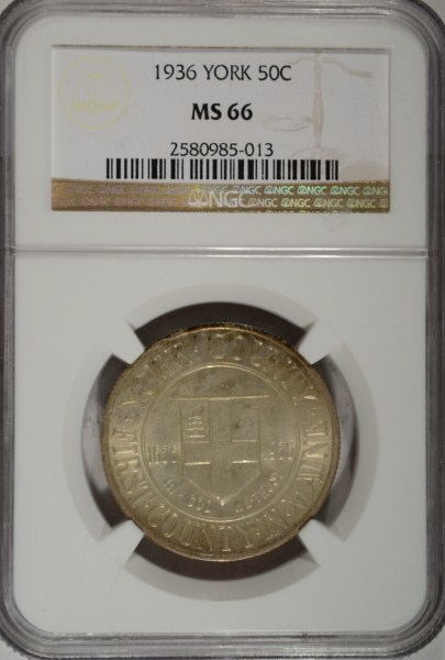 1936 York Commemorative Half Dollar NGC MS-66 Super!