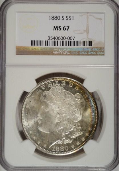 1880S Morgan $ NGC67 est $625-$650