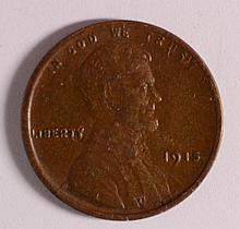 1915 LINCOLN CENT XF+ CHOCOLATE BROWN!