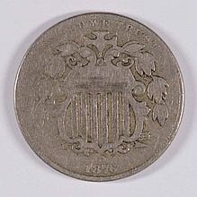 1876 Shield Nickel F-VF