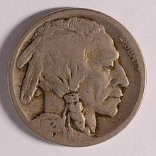 1921-S BUFFALO NICKEL, GOOD