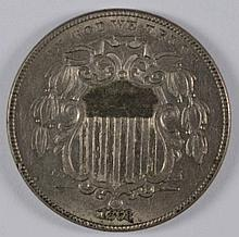 1868 Shield Nickel MS-62