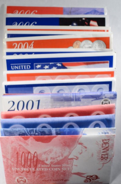 1999 THRU 2006 U.S. MINT UNCIRCULATED SETS
