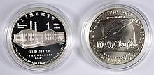 2 - COMMEMORATIVE SETS - 1987 BU CONSTITUTION & 2006 PROOF SAN FRANCISCO DOLLARS