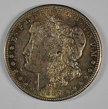 1887-S MORGAN DOLLAR AU/UNC