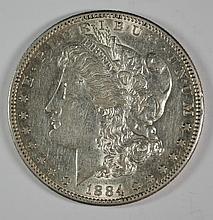 1884-S MORGAN DOLLAR AU+ NICE