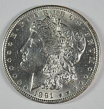 1891 MORGAN DOLLAR GEM BU WHITE BLAZER