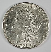 1902 MORGAN DOLLAR CH BU+ RIM NICK