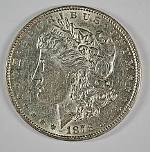 1878 7F MORGAN DOLLAR AU/UNC