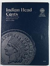 (55) INDIAN HEADS IN ALBUM MISSING JUST A FEW COINS,  VARIOUS GRADES