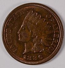 1886 INDIAN HEAD CENT CH BU RB