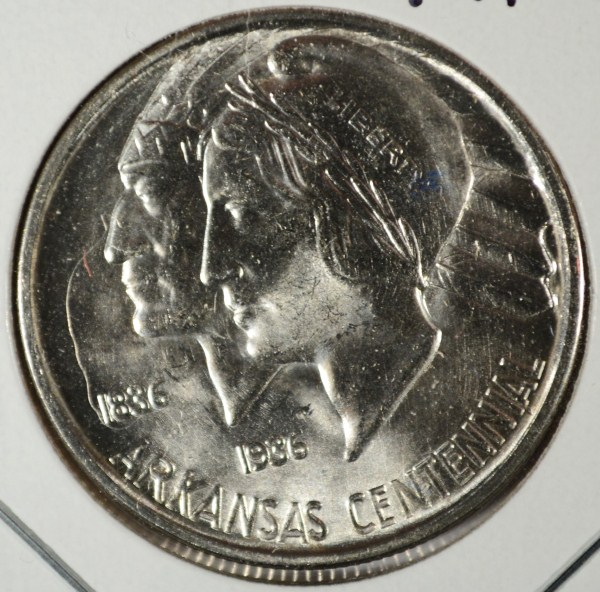 1937D ARKANSAS half $ MS63